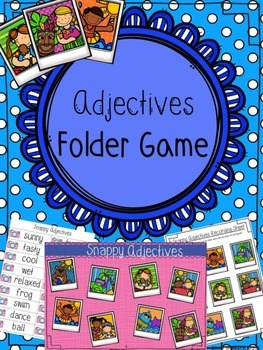 Adjectives Folder Game