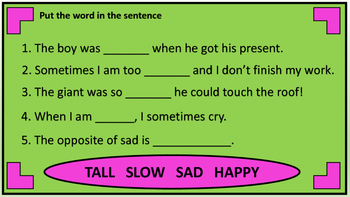 Adjectives For Young Learners