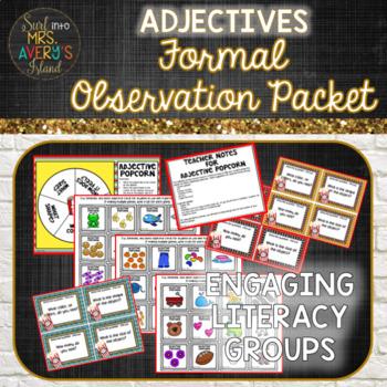 Adjectives Formal Observation Packet