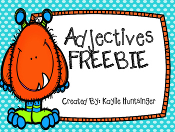 Adjectives Freebie