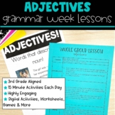 Adjectives | Full Week Lesson Plans for Third Grade