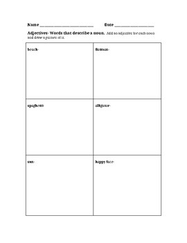 Adjectives Fun Practice for k-2