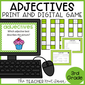 Adjectives Game | Adjectives Center | Adjectives Activities