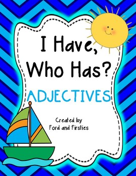 "Adjectives Game ""I Have, Who Has?"""
