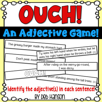 Adjectives Game: Identify the adjective in the sentence.