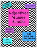 Adjectives Games Bundle {Differentiated}