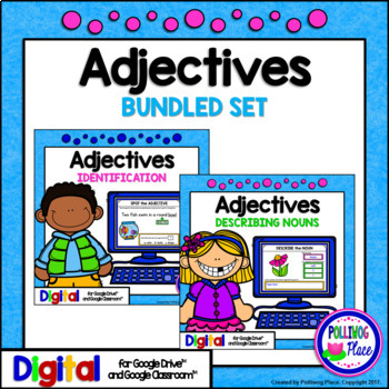 Adjectives Grammar Activity Bundle for Google Drive and Google Classroom
