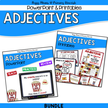 Adjectives - PowerPoint, Posters, Printables, Games {Bundle}