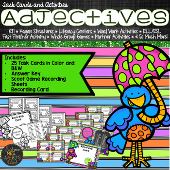 Adjectives:  Adjective Task Cards