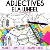Adjectives Grammar Wheel with Editable Wheel