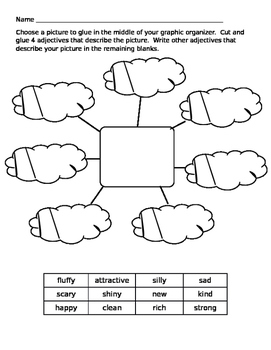 Adjectives Graphic Organizer