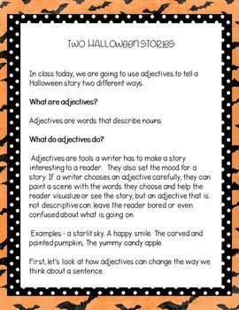 Halloween Writing Activity for 2nd Grade and 3rd Grade