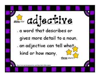 Adjectives Hands-on Centers and Activities