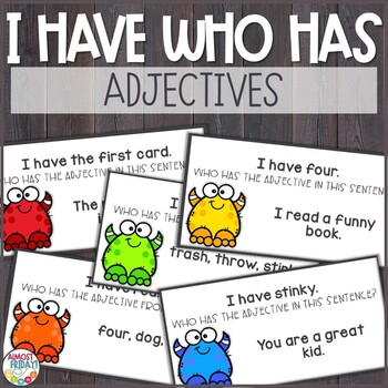 Adjectives I Have Who Has Game