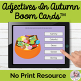 Adjectives In Autumn Boom Cards™ Fall Describing NO PRINT Adjectives Teletherapy
