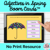 Using Adjectives To Describe Spring Boom Cards™ NO PRINT Speech Therapy