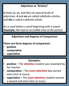 Adjectives Interactive Animated PowerPoint