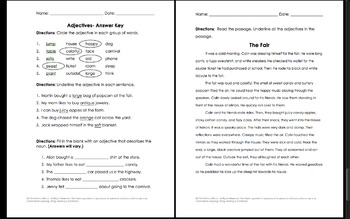 Adjectives Interactive Notebook and Activities