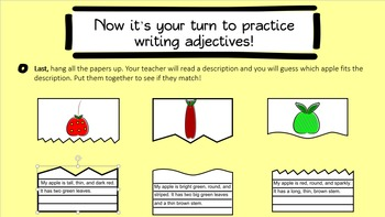 Adjectives Interactive PowerPoint with Worksheet