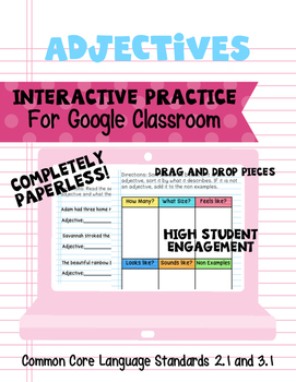 Adjectives- Interactive Practice for Google Classroom