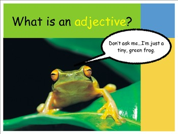 Adjectives Introduction & Practice POWERPOINT