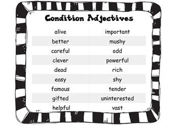 Adjectives Language Arts Describing Words Creative Writing Vocabulary