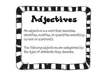 Adjectives Language Arts Describing Words Creative Writing