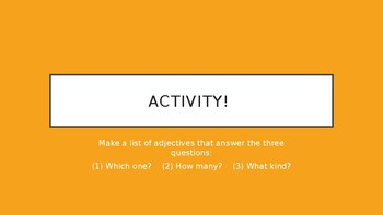Adjectives Lesson & Activities PPT