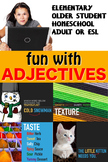 FUN WITH ADJECTIVES Visual English Lesson good for Hearing Impaired DEAF ESL