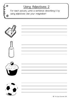 Adjectives Pack (Parts of Speech) - Literacy - 15+ printable worksheets