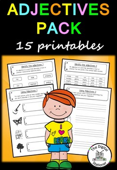 Adjectives Pack (Parts of Speech) - Literacy - 15+ printab