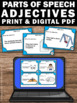 Adjectives Task Cards, Grammar Practice, Speech Therapy Ad