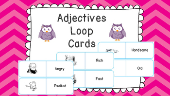 Adjectives Loop Cards