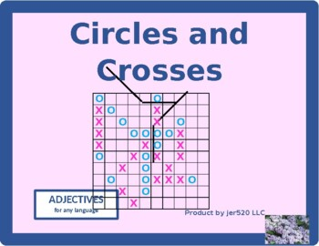 Adjectives Mega Connect 4 game