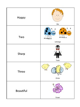 Adjectives Memory Matching Game