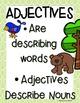 Adjectives- Mini Books Forest Friend Theme Common Core