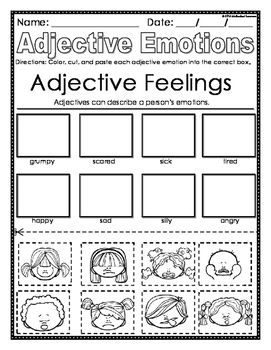 Adjectives Mini-Lesson & Worksheets
