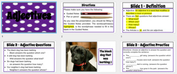 Adjectives Mini-Lesson with Guided Notes