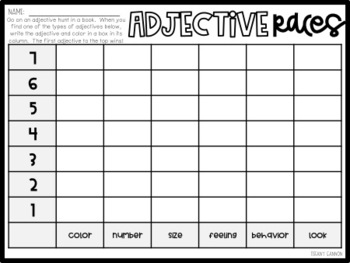 Adjectives Mini-Pack {No Prep Pack!}