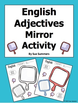 Adjectives Mirror Sketch Activity in English