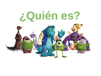 Adjectives - Monsters Inc.