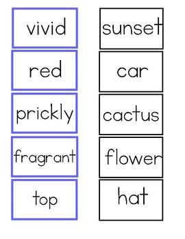 Adjectives - Montessori Logical Adjective Game