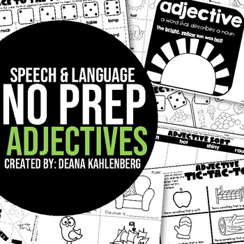 Adjectives {No Prep Practice}