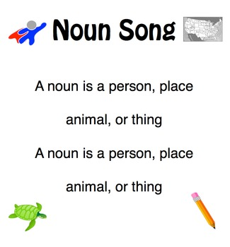 Adjectives Nouns and Verbs