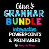Adjectives, Nouns, and Verbs PowerPoints & Activities (Gina's Bundle)