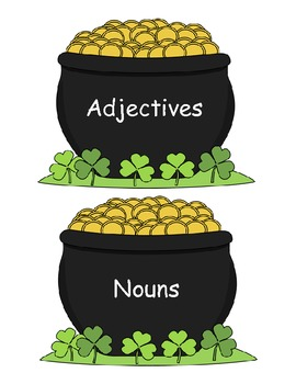 Adjectives, Nouns, and Verbs St. Patrick's Day Word Sort