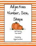 Adjectives - Number, Shape, Size Task Cards