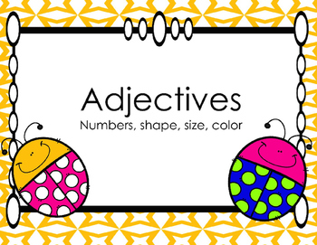 Adjectives (Number, Shape, Size and Color)