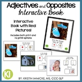 Adjectives & Opposites Interactive Book [with NO PRINT option]