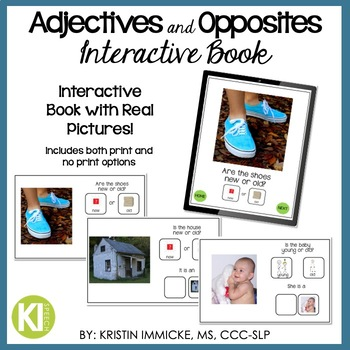 Adjectives & Opposites Interactive Book